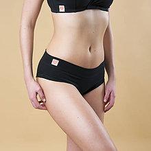 Bielizeň/Plavky - Nohavičky bez gumičky čierne - 11815372_