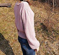 Svetre/Pulóvre - Fialkový ľahučký pulovrík - 11812757_