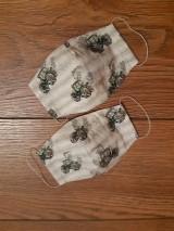 Rúška - Detské bavlnené rúško trojvrstvové - 11748984_