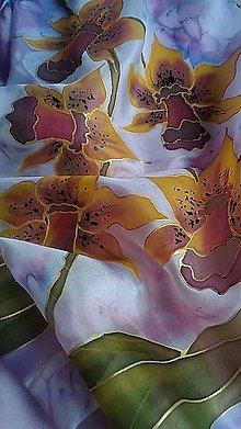 Šatky - Šatka žlté orchideje. - 11820073_