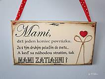 Tabuľky - Mami - vintage tabuľka krémová - 11819654_