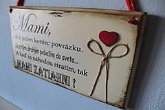 Tabuľky - Mami - vintage tabuľka krémová - 11819655_