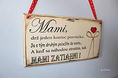 Tabuľky - Mami - vintage tabuľka krémová - 11819656_