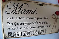 Tabuľky - Mami - vintage tabuľka krémová - 11819657_