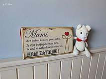 Tabuľky - Mami - vintage tabuľka krémová - 11819658_