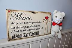 Tabuľky - Mami - vintage tabuľka krémová - 11819659_