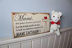 Tabuľky - Mami - vintage tabuľka krémová - 11819660_