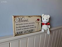 Tabuľky - Mami - vintage tabuľka krémová - 11819664_