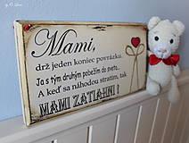 Tabuľky - Mami - vintage tabuľka krémová - 11819665_