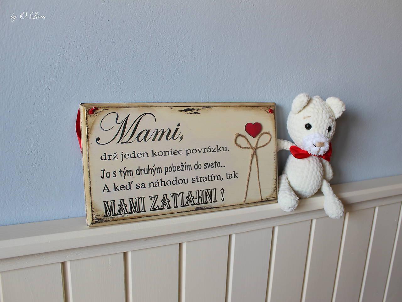 Mami - vintage tabuľka krémová