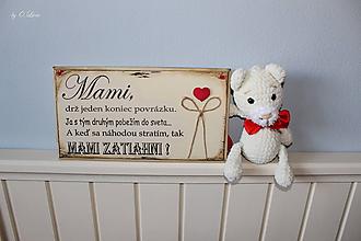 Tabuľky - Mami - vintage tabuľka krémová - 11819663_