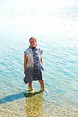 Tuniky - Plstená šedá tunika z Merino vlny - 11818829_