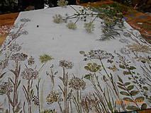 """Úžitkový textil - Ľanový maľovaný obrus """" Lúčne trávy """" - 11816398_"""