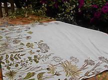 """Úžitkový textil - Ľanový maľovaný obrus """" Lúčne trávy """" - 11816615_"""