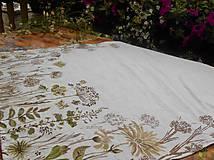 """Úžitkový textil - Ľanový maľovaný obrus """" Lúčne trávy """" - 11816616_"""