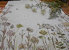 """Úžitkový textil - Ľanový maľovaný obrus """" Lúčne trávy """" - 11816628_"""