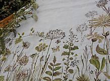 """Úžitkový textil - Ľanový maľovaný obrus """" Lúčne trávy """" - 11816629_"""