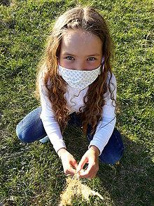 Rúška - Dievčenské rúško so šatkou - 11819946_