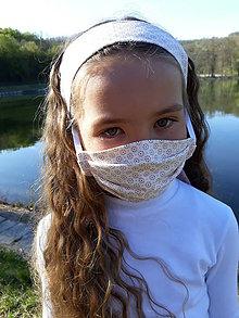 Rúška - Dievčenské rúško so šatkou - 11820025_