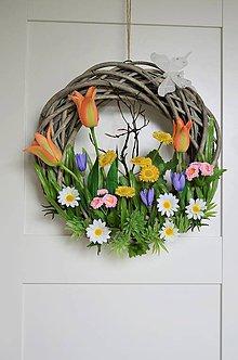 """Dekorácie - Dverový veniec """"v našej záhradke"""" - 11816493_"""