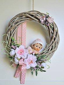 """Dekorácie - Veniec interiérový """" Vitaj bábätko v rodine"""" - 11816645_"""