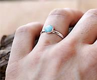 Prstene - Strieborný s amazonitom - 11818058_