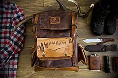 Batohy - Kožený batoh - 11817605_