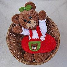 Hračky - Háčkovaná medvedica Izidorka - 11819123_