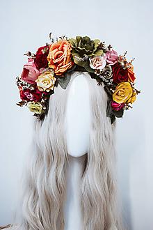 Ozdoby do vlasov - Štýlová boho čelenka z ruží - 11820217_