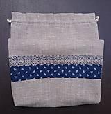 Úžitkový textil - Vrecko na chlieb 100% ľan - 11818917_