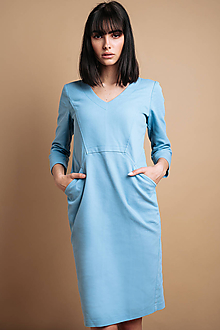 Šaty - Svetlé denimové šaty - 11820297_