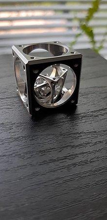 Kľúčenky - kocka v kocke veľká(dural)-klúčenka - 11817287_