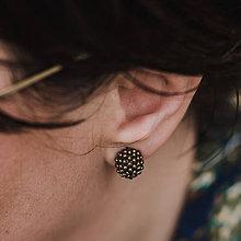 Náušnice - #bobuledousi zlatobronzové zapichovačky - 11818864_