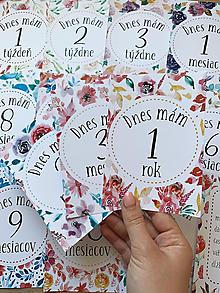 Detské doplnky - Mílnikové kartičky kvetinové - 11822896_