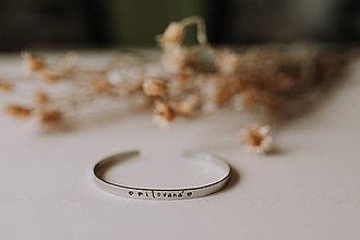 Náramky - Milovaná  (Oceľový úzky náramok milovaná) - 11821490_