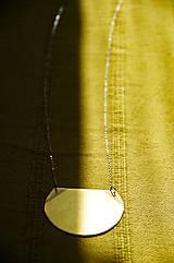 Náhrdelníky - Mosazný náhrdelník slunce - 11821711_