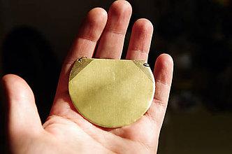 Náhrdelníky - Mosazný náhrdelník slunce - 11821710_