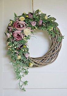 Dekorácie - Romantický dverový veniec - 11823428_