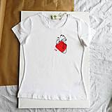 Tričká - Dámske tričko Ammyla - Moje srdce - 11821181_