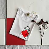 Tričká - Dámske tričko Ammyla - Moje srdce - 11821182_