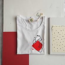Tričká - Dámske tričko Ammyla - Moje srdce - 11821180_