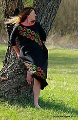 Šaty - Dámske šaty maxi, oversize, šité, maľované, etno ISKIERKY - 11821817_