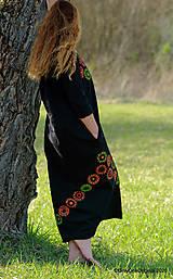 Šaty - Dámske šaty maxi, oversize, šité, maľované, etno ISKIERKY - 11821846_