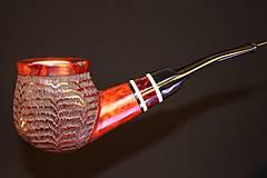 Iné - Štýlová fajka z briárového dreva #2006 - 11820694_