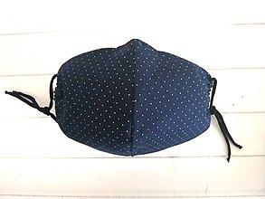 Rúška - Rúško 3 vrstvové s otvorom na filter tmavomodré - 11823744_
