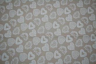 Textil - metráž  srdcia - 11825552_
