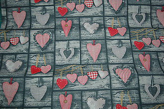Textil - metráž srdcia - 11825565_