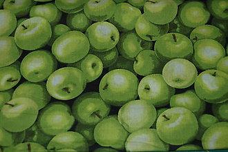 Textil - metráž zelené jablko - výpredaj - 11825590_