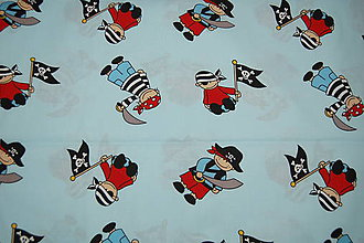 Textil - metráž piráti - 11825601_