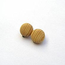 Náušnice - Drevené naušnice klipsňové - smrekové vypuklé krúžky - 11823050_